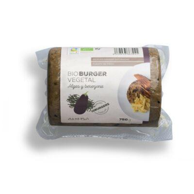 hamburguesa vegetal algas y berenjena