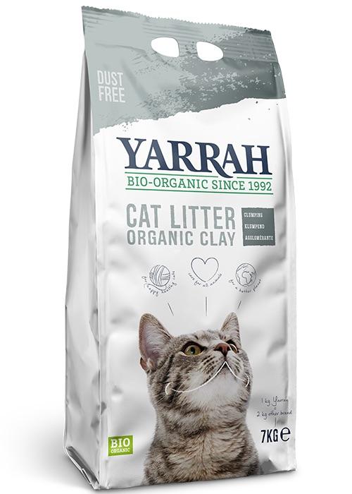 arena orgánica para mascotas y gatos