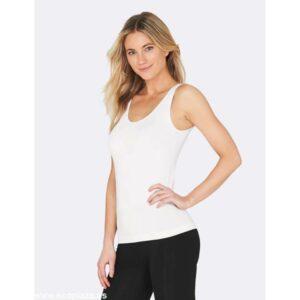 camiseta blanca sin mangas L