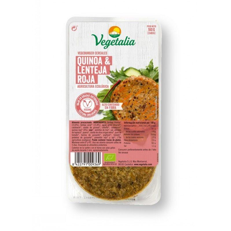 vegeburger quinoa lenteja roja